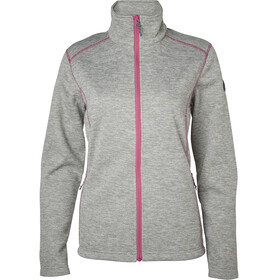 North Bend Act Fleecejacke Damen grau melange